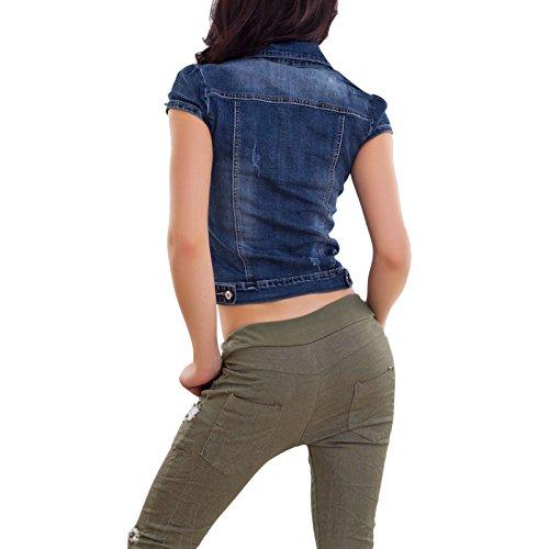 newest ff667 a425d Toocool - Giacca Jeans Denim Maniche Corte A1791