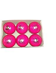 Chishti Indoor Club - Palle da Cricket, Confezione da 6, Peso 114 g, Colore: Rosa