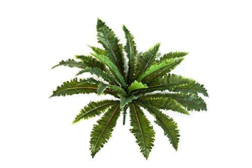 artplants Kunst-Fransenfarn Freddy mit 24 Blättern, grün, Ø 70 cm, 55 cm – Deko Fran/künstlicher Farn
