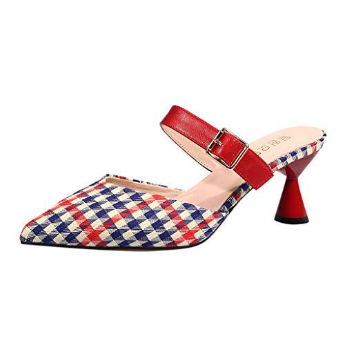 Hcfkjciabatte da donna a punta cava scarpe da donna alla moda folte con sandali da donna