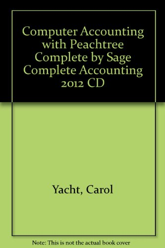 Preisvergleich Produktbild Computer Accounting with Peachtree Complete by Sage Complete Accounting 2012 CD