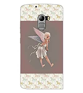 PrintDhaba Angel D-3682 Back Case Cover for LENOVO K4 NOTE A7010a48 (Multi-Coloured)