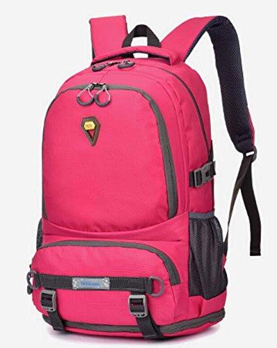 Gli appassionati di outdoor di grande capacità zaino borsa impermeabile Zaini 40L , grey rose red
