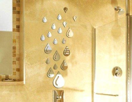 Espejo-Stillcool-gota-del-agua-de-la-gota-de-agua-elegante-moderno-de-arte-de-diseo-de-moda-extrable-bricolaje-acrlico-3D-Tatuajes-de-pared-etiqueta-de-la-pared-para-cuarto-de-bao-Sala-de-estar-la-dec
