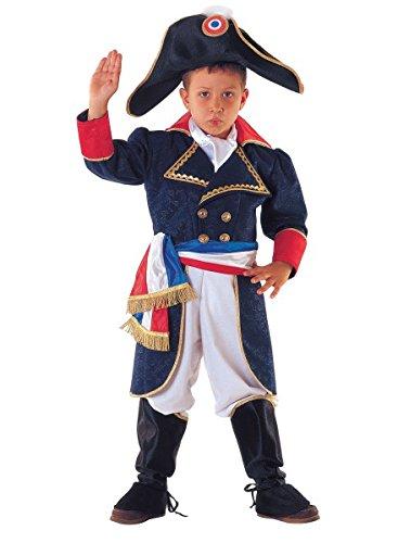 Napoleon Feldherr Kinderkostüm Franzosenkostüm, Größe:128 (Historische Frauen Halloween Kostüm Ideen)