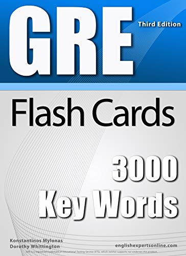 GRE Flash Cards - 3000 Key Words (2018 Edition): A powerful method ...