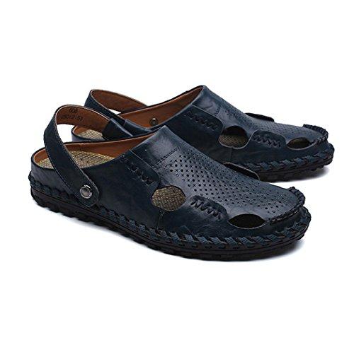 Di Comfort Porosi Uomo Blu Sandali Calzature Muli Cuoio 8qdxxZ1