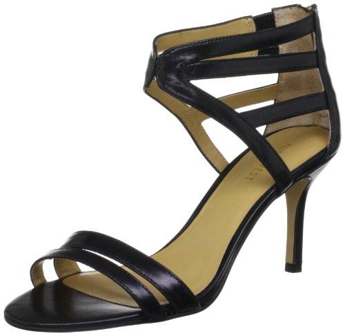 41jxbEpleyL Nine West Womens Geezlouisleather Black Ankle Strap Heels 3808900109 7 UK