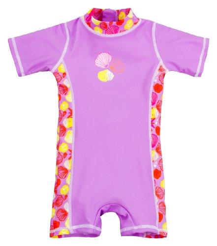 Landora Baby-Badebekleidung Einteiler mit UV-Schutz 50+ und Oeko-Tex 100 Zertifizierung in violett; Größe 98/104 - Kleinkinder-badebekleidung