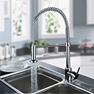 SHUYOU® Kitchen Faucet Contemporary Pullout Spray/Pre Rinse Brass Chrome