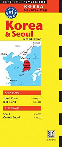 Periplus: Korea & Seoul Country Map (Periplus Travel Maps)
