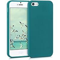 kwmobile Funda para Apple iPhone SE/5/5S - Case para móvil en TPU silicona - Cover trasero en petróleo mate