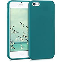kwmobile Funda para Apple iPhone SE / 5 / 5S - Case para móvil en TPU silicona - Cover trasero en petróleo mate