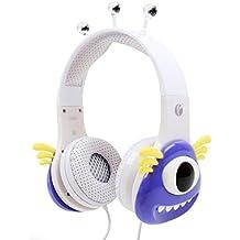 DURAGADGET Auriculares mágicos para niños para Smartphone LG K10 | K3 | K4 | K8 | Stylus 3 . Colores divertidos. Diseño monstruo morado.