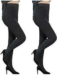 BFACCIA Lot de 2 Collants Confortables Chauds Thermo pour Femme, Collants  Opaque Femmes Ultra Elastique 15e5f314e4f0