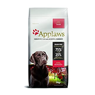 Applaws Natural Complete Dry Dog Food, Large Breed Adult, Chicken, 15kg 15