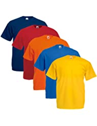 Fruit of the Loom Herren T-Shirt 5 er PackRegular Fit 11182V