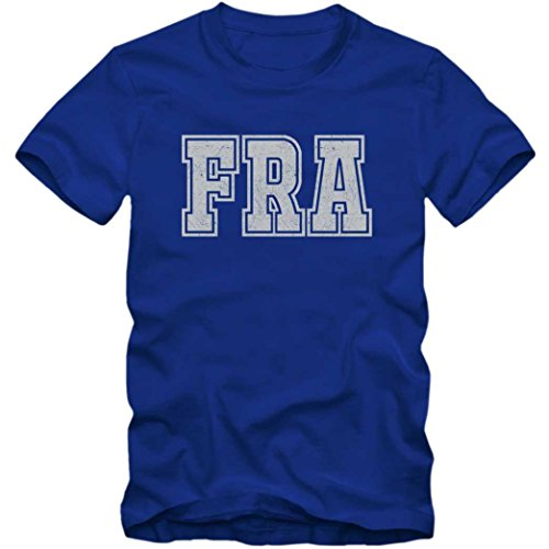 FRA Premium T-Shirt | Airport-Shirt | Frankfurt am Main | Reisen | Herren | Shirt © Shirt Happenz Blau (Royalblue L190)