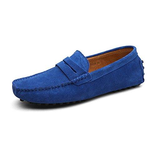 CCZZ Homme Conduite Chaussures Suède Cuir Mocassin Chaussures Penny Loafers Casual Bateau Chaussures de Ville Flats Grande Taille 38-49 EU