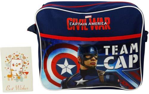 Marvel Captain America Civil War Team Cap Bandoulière Sac à l'épaule Poche pour Ecole Enfant Loisirs