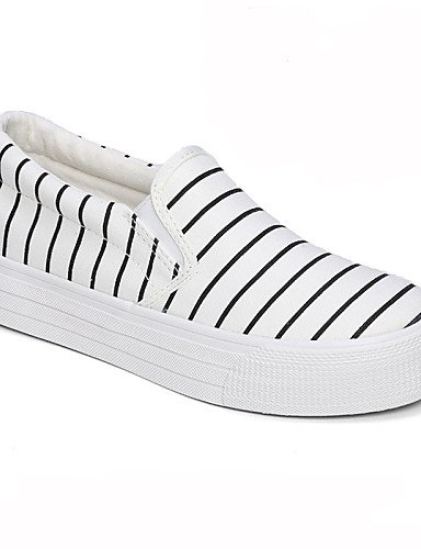 ZQ gyht Scarpe Donna - Mocassini - Tempo libero / Casual - Punta arrotondata - Piatto - Di corda - Nero / Bianco , white-us8 / eu39 / uk6 / cn39 , white-us8 / eu39 / uk6 / cn39 white-us6.5-7 / eu37 / uk4.5-5 / cn37