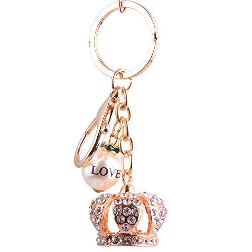 Key Reel Keyring Set Schnecke Metall Krone Schlüssel Lady Handtaschen Zubehör König Krone Zubehör Valentinstag Freundin Geschenk Schwestern Schlüsselanhäng ()