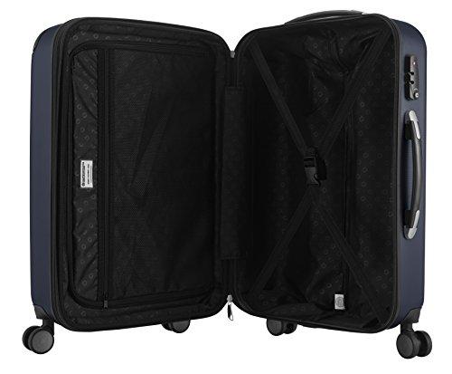 HAUPTSTADTKOFFER - Spree - Bagages Cabine à Main, Valise Rigide, Trolley, ABS, TSA, extra léger, extensible, 4 roues, 55 cm, 49 L, Bleu Foncé