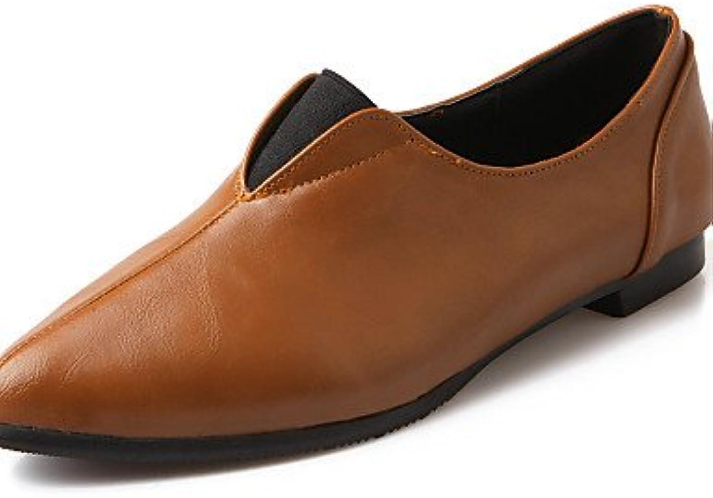 PDX/Damen Schuhe flach Ferse Komfort/spitz Toe Wohnungen Casual Schwarz/Braun/Rot/Beige