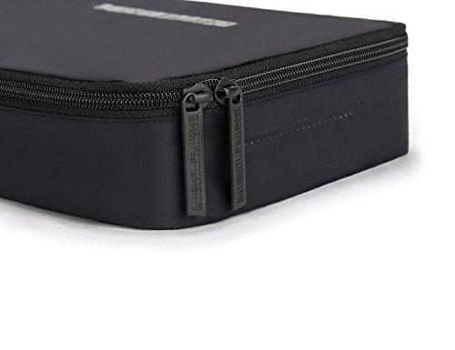 LIGHT FLIGHT Packwürfel fuer Business Trips und Urlaubsreisen. Federleichte Packing Cubes 3er Set Schwarz