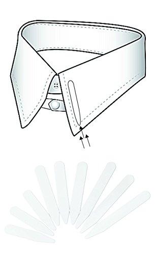 Puntine Stecche per colletto camicia, Confezione da 20, 10 x 55 mm - ABITI UOMO - rinforzano colletto camicia - 2AINTIMO®