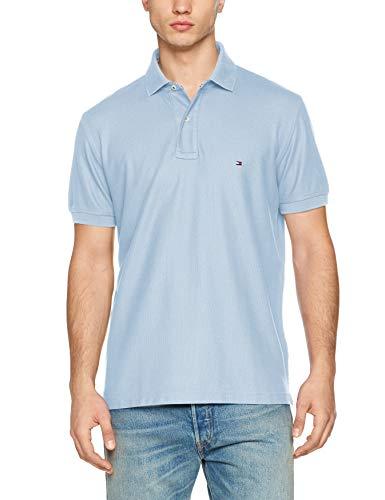 Tommy Hilfiger Herren Hilfiger Regular Polo Poloshirt, Blau (Chambray Blue 422), Medium (Herstellergröße: M) -