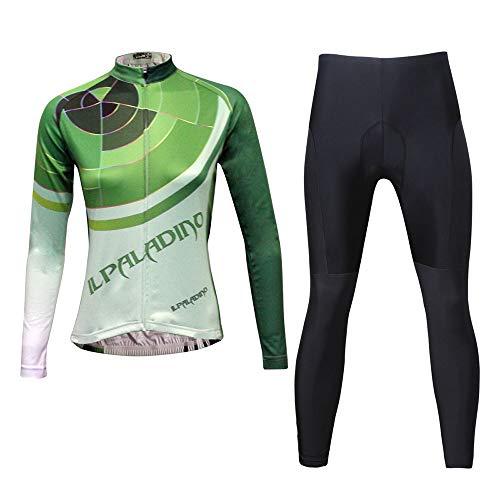 Wuxingqing-Sport Fahrradtrikot Set Frauen Jersey Langarm Shirt Mountain Bike Anzug Atmungsaktiv Komfort Für MTB Rennrad (Farbe : A2, Größe : XS)