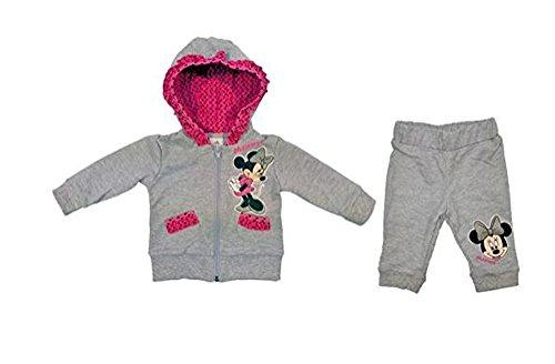 Mädchen- Baby- SPORT-ANZUG Minnie Mouse zweiteilig, Sweat-Jacke mit langer Hose, GRÖSSE 62, 68, 74, 80, 86, 92, 98, 104, Jogging-Anzug mit Hoodie / Kapuzen-Pulli, Freizeit-Anzug Size 86