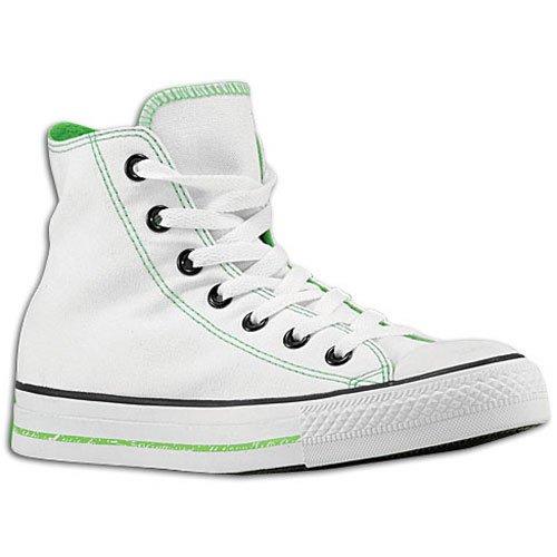 Converse unisexe All Star Chuck Taylor Imprimé Logos Salut Shoe - White, Lime
