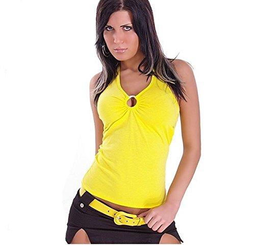 instyle-nk10-haut-de-soiree-sexy-sans-manches-avec-anneaux-jaune