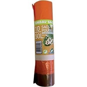 Sacs poubelle parfumés - Senteur de l'orange - 50 l - 10 sacs