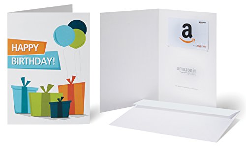 Amazon.in Gift Card with Greeting Card - Rs.3000 ( Happy Birthday )