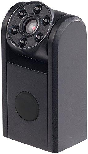 Somikon Kamera: Mini-HD-Überwachungskamera, IR-Nachtsicht, PIR-Sensor, 1 Jahr Stand-by (Videofalle) (Mini Hd überwachungskamera)
