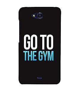 Fuson Designer Back Case Cover for Micromax Bolt Q338 (Go To The Gym)