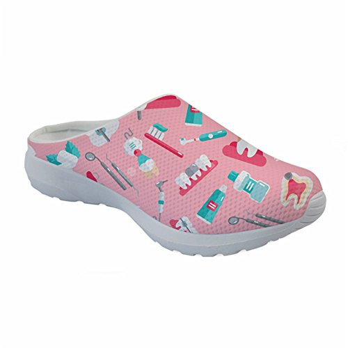 Coloranimal Breathable Slip On Sandals für Damen Shopping Slipper Open Back-EU Größe 39 -