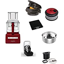 MAGIMIX CS 5200 XL FOOD PROCESSOR RED WITH OPTIONAL ACCESSORIES (1)CITRUS PRES+2)SMOOTHIEMIX KIT+3)WEIGHT SCALE+4)MASH AND PUREE KIT+5)CREATIVE KIT+6) DICE & FRENCH-FRY KIT)