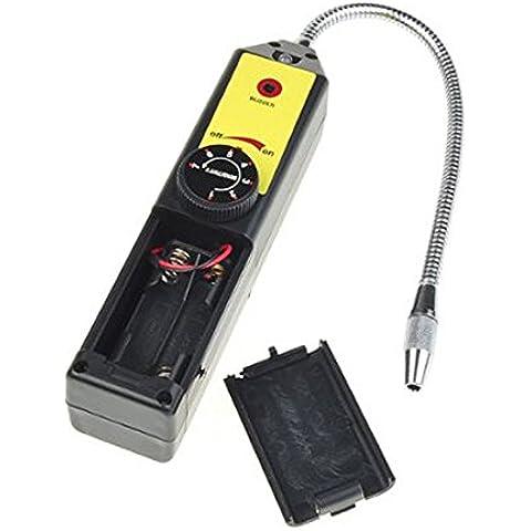 Detector de fugas - TOOGOO(R) Detector de fugas de freon halogena de refrigerante A/C R134 R410a R22 Gas aire HVAC Herramien Negro
