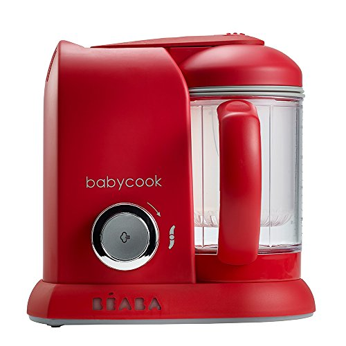 Béaba Babycook Solo ROUGE - Mixeur, Cuiseur, Processeur Alimentaire 4-en-1 (UK IMPORT)