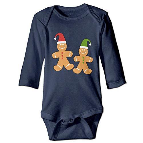 sunyly NMDJC CCQ Lebkuchenmann Frohe Weihnachten Baby Body Cute Onesie Soft Outfits Kostüm, (Cute Lion Kind Kostüm)