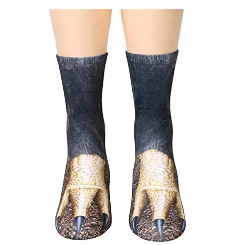 cken Damen und Herren 3D Animal Pfote Drucken Pattern Crew Socken Sneaker Sportsocken Hohe ()