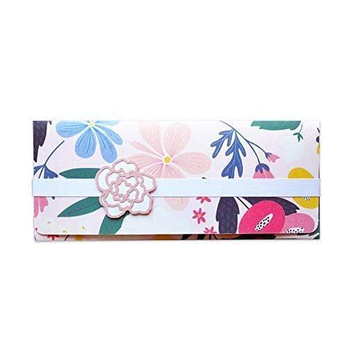 Porta soldi - floreale - cerimonie - matrimonio - busta portasoldi (formato 22 x 9,5 cm) + biglietto d'auguri vuoto all'interno - ideale per il tuo messaggio personale - realizzato interamente a mano.