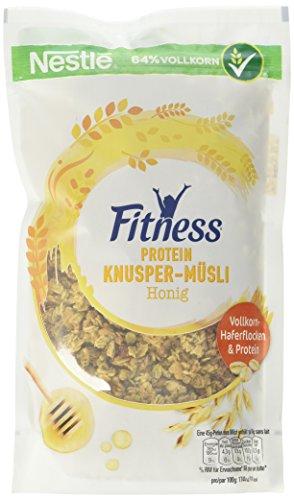 Nestlé Cerealien Fitness Protein Knusper-Müsli Honig, Beutel, 7er Pack (7 x 300 g)