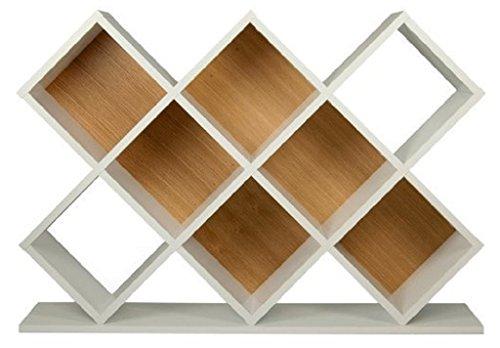 Afydecor Modern Cubby Style Bookshelf - White