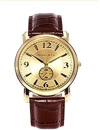 Boudier & Cie BSSM203 - Reloj para hombre de cuarzo con correa de cuero color marrón