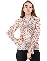 A Thousand Things Women's Peach Georgette Top